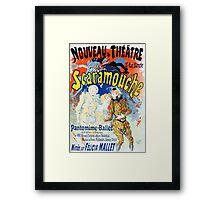 Vintage Jules Cheret 1896 Scaramouche Framed Print