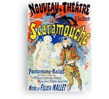 Vintage Jules Cheret 1896 Scaramouche Canvas Print