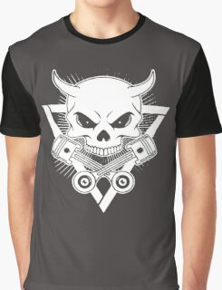Skull Piston Graphic T-Shirt
