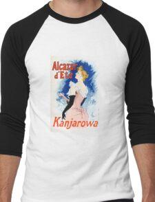 Vintage Jules Cheret 1896 Kanjarowa Men's Baseball ¾ T-Shirt