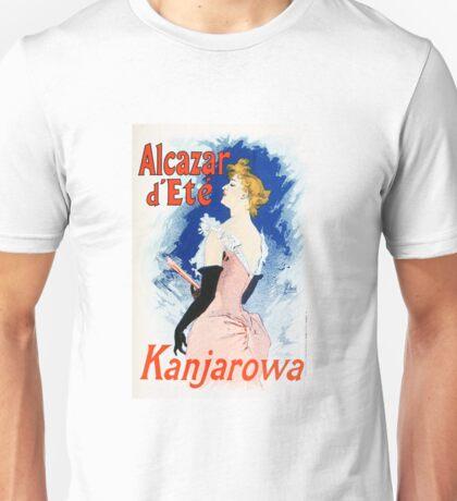 Vintage Jules Cheret 1896 Kanjarowa Unisex T-Shirt