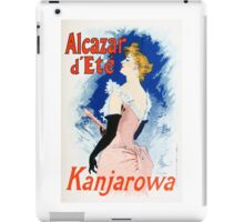 Vintage Jules Cheret 1896 Kanjarowa iPad Case/Skin