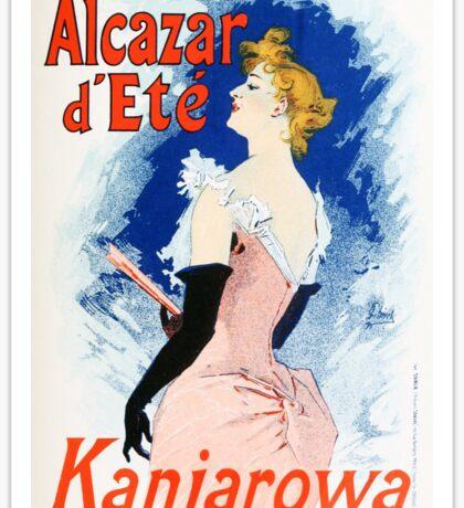 Vintage Jules Cheret 1896 Kanjarowa Sticker