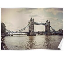 Vintage Photograph of Tower Bridge Poster