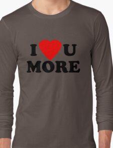 I Love you more text logo design Long Sleeve T-Shirt