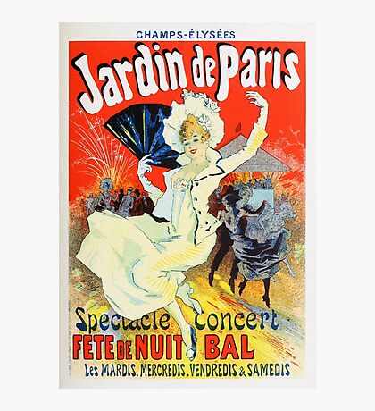 Vintage Jules Cheret 1896 Jardin De Paris Photographic Print