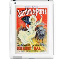 Vintage Jules Cheret 1896 Jardin De Paris iPad Case/Skin