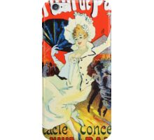 Vintage Jules Cheret 1896 Jardin De Paris iPhone Case/Skin