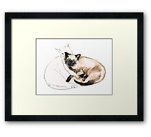 Chinky and Chang  Framed Print