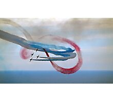 Abstract Art from The Red Arrows.... Photographic Print
