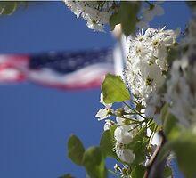 Flag and Flowers 2 by ktlovesbks