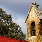 Country church tower, Clare Valley, South Australia by indiafrank
