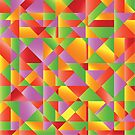 abstract mosaic background by valeo5