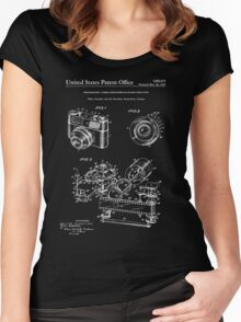 Camera Patent 1963 - Blueprint Women's Fitted Scoop T-Shirt
