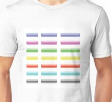 set of colorful glass buttons Unisex T-Shirt