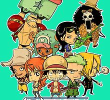 One Piece Straw Hat Pirates by exeivier