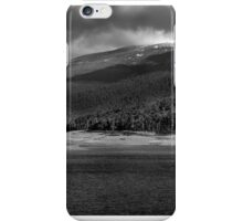 Snow on the mountains  iPhone Case/Skin