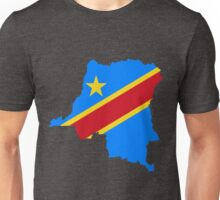 Congo Flag Map Unisex T-Shirt