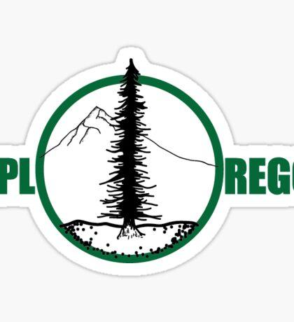 ExplOregon Green Sticker