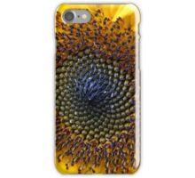 Sunflower Centre in Peebles Garden iPhone Case/Skin