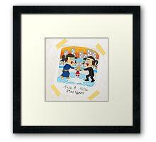 Toddler Alura and Astra artwork Framed Print