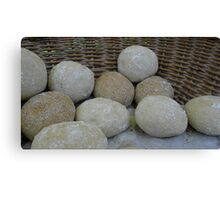 Bread in a basket Canvas Print