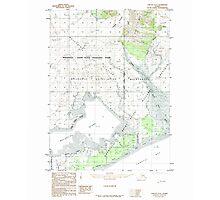 USGS TOPO Map Alaska AK Yakutat D-6 360507 1985 63360 Photographic Print