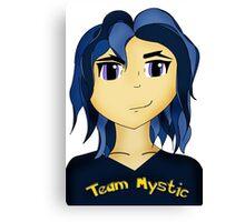 Kawaii Anime style girl in blue - Team Mystic Canvas Print