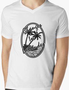 changes in latitudes black and white jimmy buffett Mens V-Neck T-Shirt
