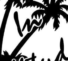 changes in latitudes black and white jimmy buffett Sticker