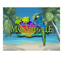 jimmy buffet margaritaville animation 3D cover Photographic Print