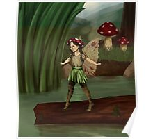 Toadstool Fairy Poster