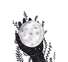 The Moon in your hand Photographic Print