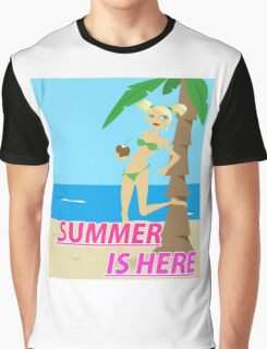 Summer is here design Graphic T-Shirt