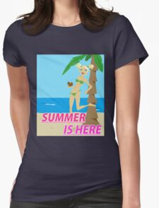 Summer is here design Womens Fitted T-Shirt