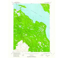 USGS TOPO Map Alaska AK Kenai A-3 356570 1951 63360 Photographic Print