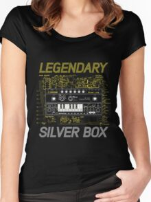 silver music box Women's Fitted Scoop T-Shirt