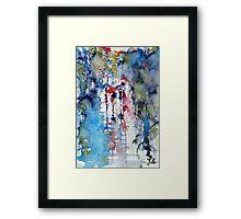 Raining Framed Print