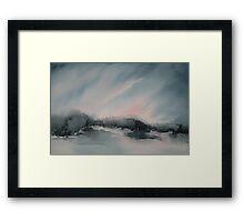 Paysage d'orage Framed Print