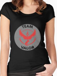 Team Valor - Red Women's Fitted Scoop T-Shirt