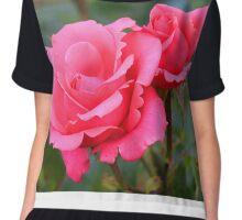 Pink Roses Chiffon Top
