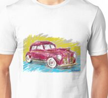 Old Red Plymouth Sketch Unisex T-Shirt