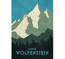 Castle Wolfenstein Vintage Tourism (Plain Blue) Photographic Print