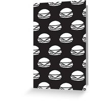 Black and White Burger Pattern Outline Greeting Card