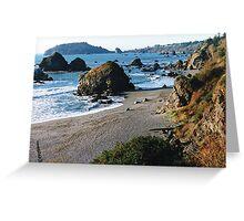 Luffenholtz Beach Near Trinidad, CA Greeting Card