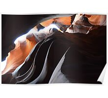 Antilope Canyon more waves Poster