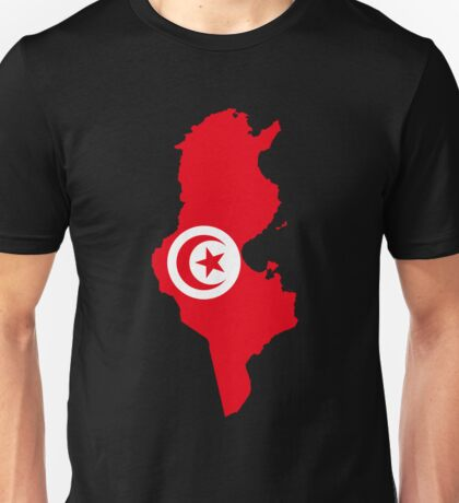 Tunisia Flag Map Unisex T-Shirt