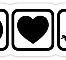 Peace love heart Yoga Sticker