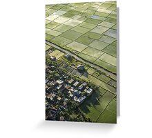 Denpasar Ricefields  Greeting Card