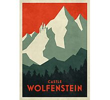 Castle Wolfenstein Vintage Tourism (Border Plain Red) Photographic Print